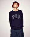 Pop Arch Knitted Crewneck Navy