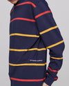 Pop Logo Striped Longsleeve Navy/Red/Yellow