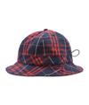 Pop Bell Hat Red/Navy Plaid