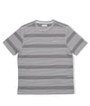 Pop Harde Striped Pocket T-Shirt Anthracite/White