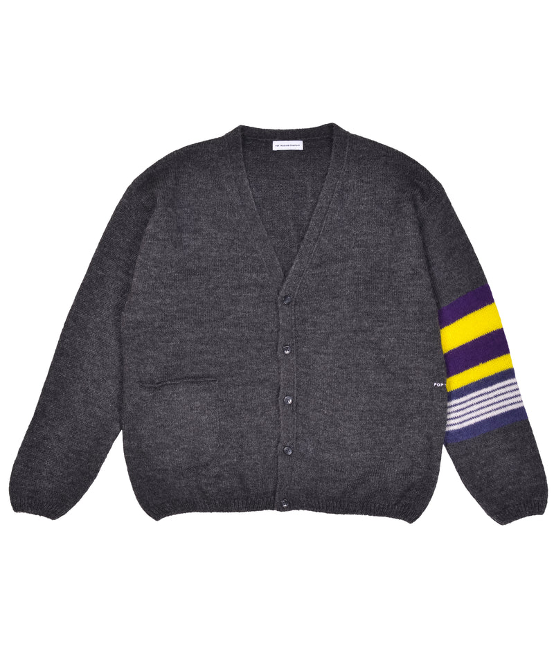 Pop Captain Knitted Cardigan Anthracite