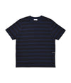 Pop Striped Logo T-Shirt Navy/Black