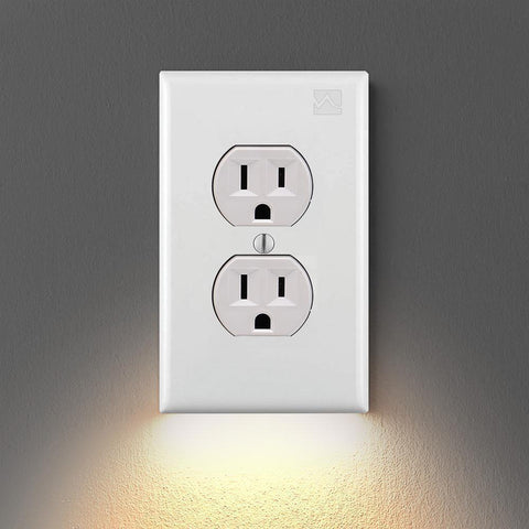 Outlet Wall Plate With Led Night Lights - Set of 5