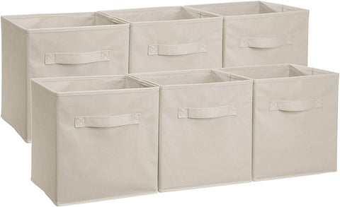 Collapsible Fabric Storage Cubes Organizer with Handles - Pack of 6