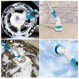 Electric spin scrubber