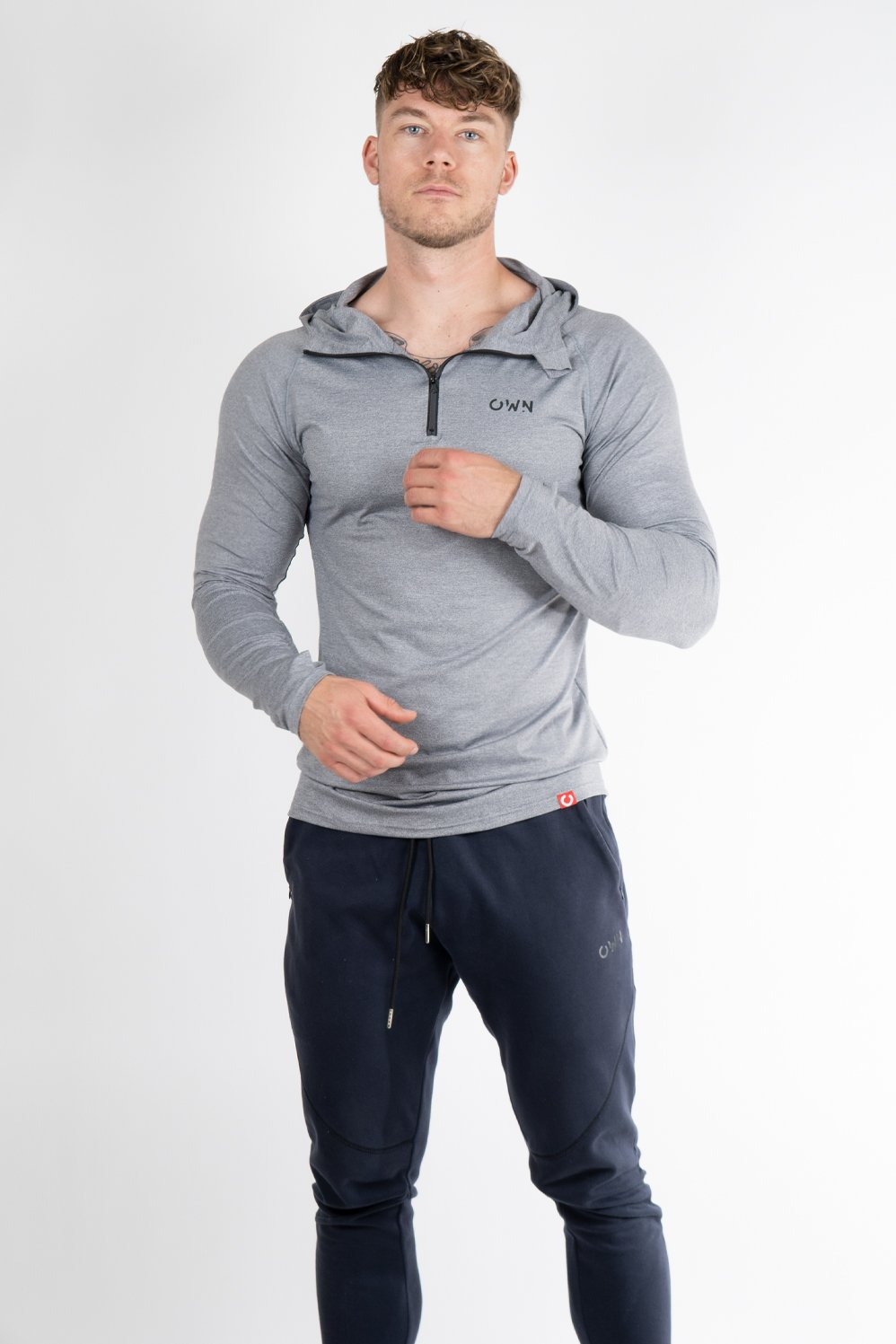 Performance long sleeve light grey - Own-Wear