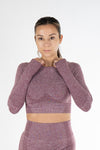 Ziva Crop top Burgundy - Own-Wear