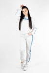 Evy Full Tracksuit Grey/Petrol (top and bottom) - Own-Wear