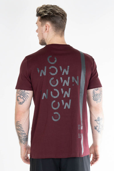 ENDO T-shirt dark burgundy - Own-Wear