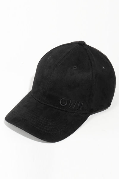Black cruelty free suede OWN cap - Own-Wear