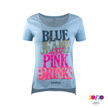 Load image into Gallery viewer, Women's Blue Jeans and Pink Drinks Tee