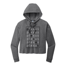 Load image into Gallery viewer, Ladies Plexus Repeat Fleece Crop Hoodie