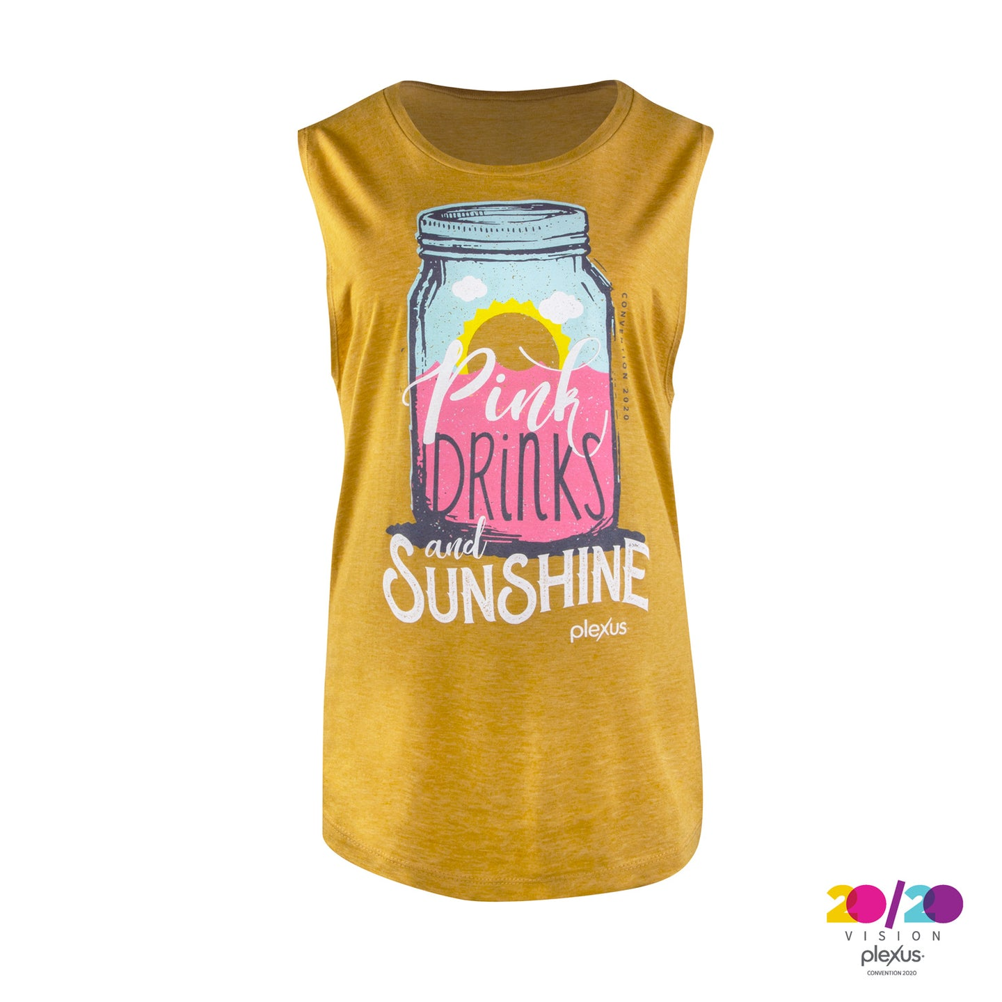 Pink Drinks and Sunshine Muscle Tank