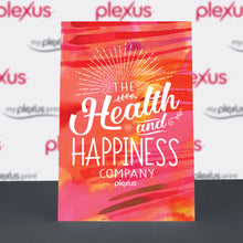"Load image into Gallery viewer, Plexus® ""Health and Happiness Company."" Table-top Poster"