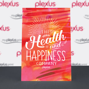 "Plexus® ""Health and Happiness Company."" Table-top Poster"