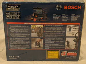 Bosch Self-Leveling Cross-Line Laser with Plumb Points and Tripod