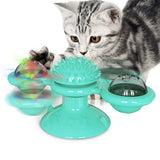 PetCustomGift Interactive Windmill Cat Toy- Blue
