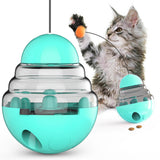 PetCustomGift Multifunctional Tumbler Cat Feeder, Cat Toy with Cat Teasing Tod