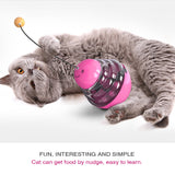 PetCustomGift Multifunctional Tumbler Cat Feeder, Cat Toy with Cat Teasing Tod  Red