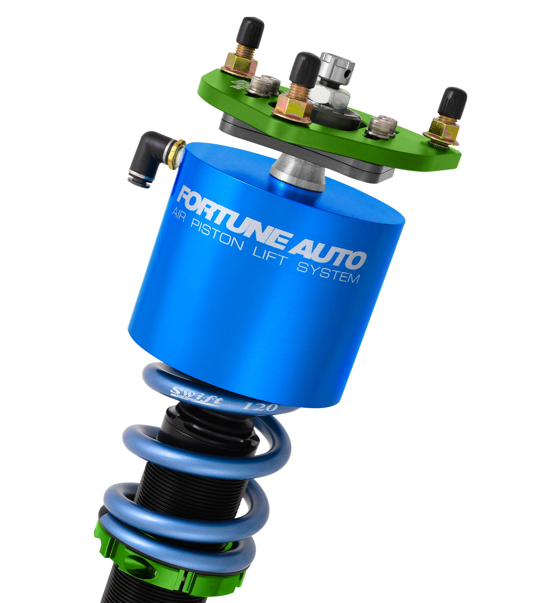 Fortune Auto 500 Series Coilovers with Air Piston Lift System - 5 Series (F10)-Canada