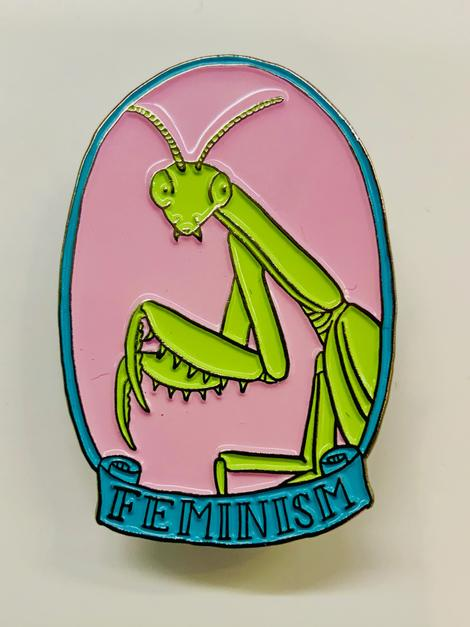 Feminism Praying Mantis Enamel Pin
