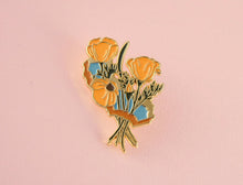 Load image into Gallery viewer, Golden Poppies Enamel Pin