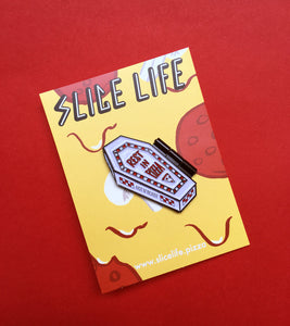 Rest In Pizza Hinged Enamel Pin