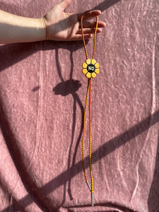 BOLO no. 08 (Yellow NO flower, red/yellow cord)