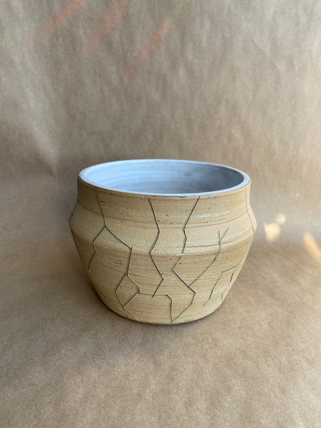SECONDS SALE - Cracked marbled planter/vase