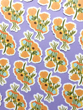 Load image into Gallery viewer, California Poppies Sticker