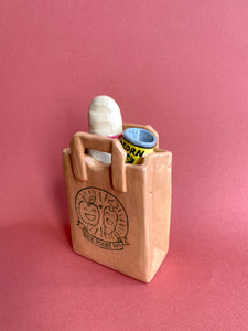 SMOKEABLE SCULPTURE - Grocery Bag