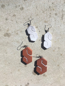 """Cool S"" Ceramic Earrings"