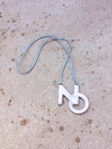 NO Ceramic Necklace