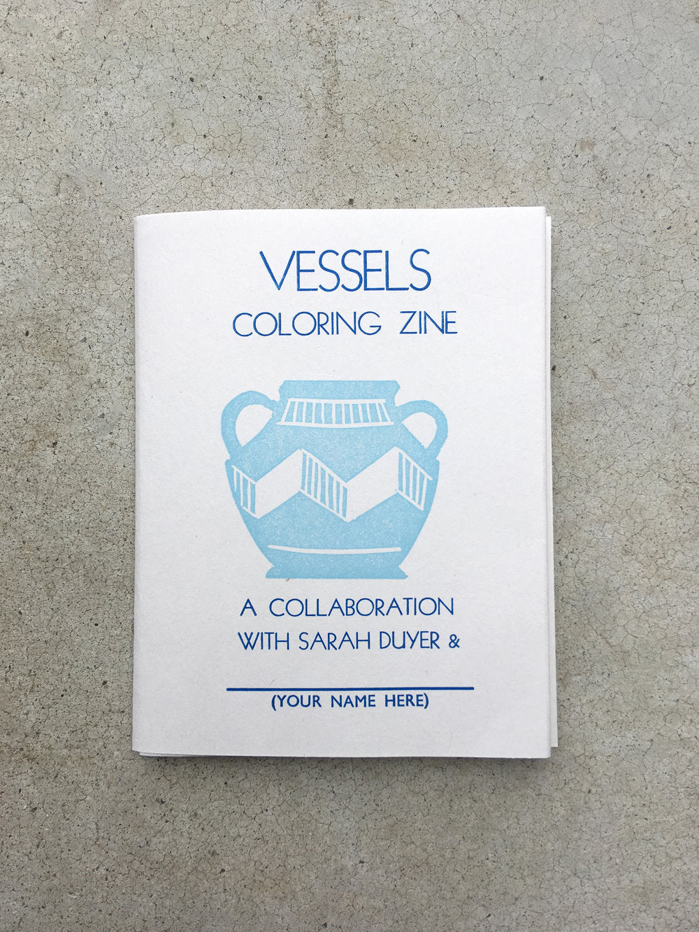 Vessels Coloring Book Zine