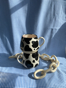 Black and White Cow Mug