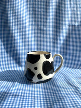 Load image into Gallery viewer, Black and White Cow Mug