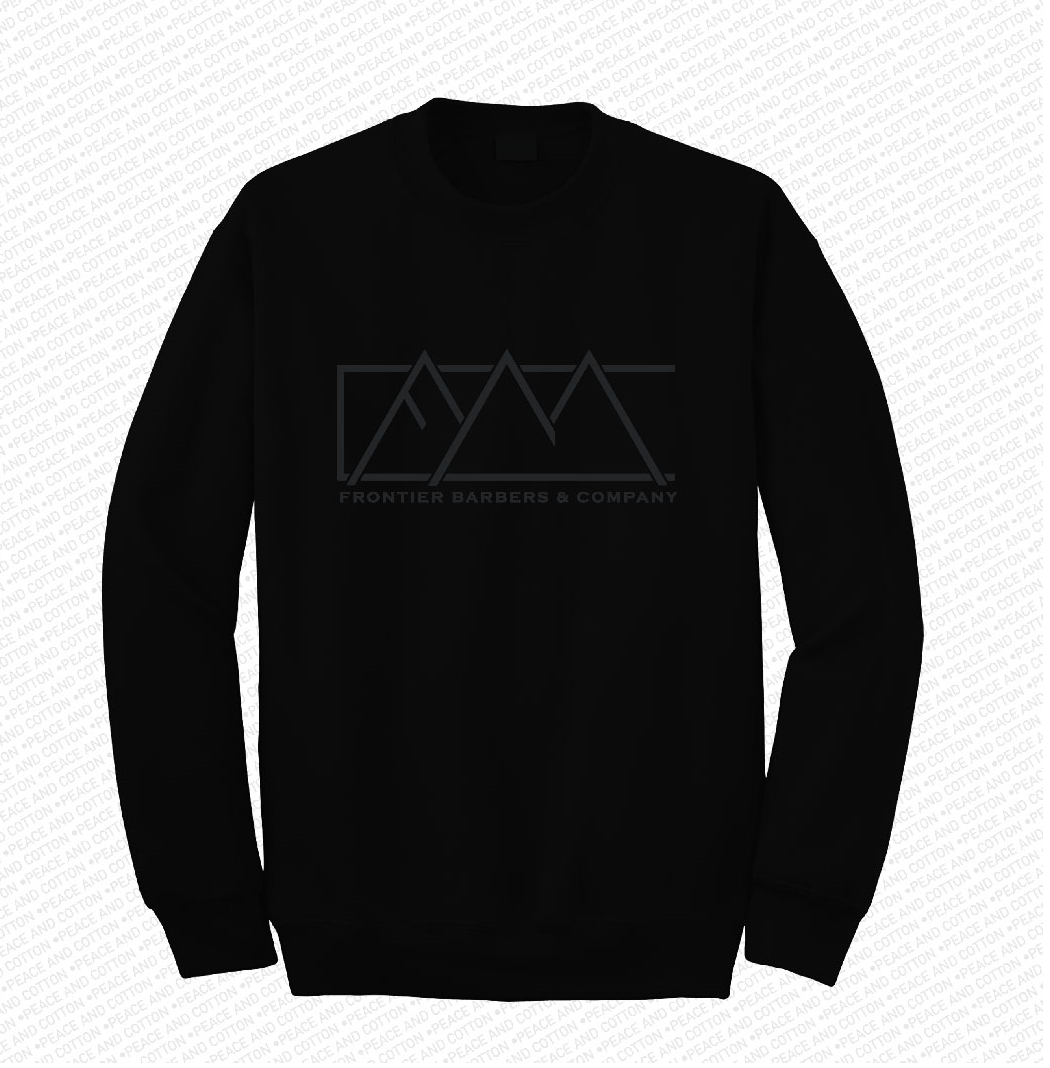 Frontier Black on Black Crew Sweater