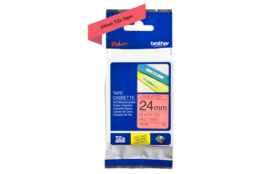 Genuine Brother TZe Labelling Tape – 24mm width – Assorted Colours