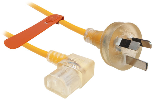 1.5m with wall plug to Left Hand 90-degree IEC C13 connector
