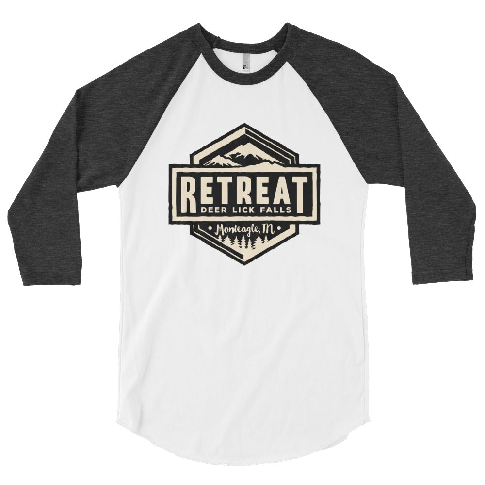The Retreat at Deer Lick Falls 3/4 sleeve raglan shirt - The Retreat by Oakstone