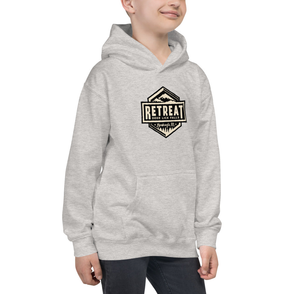 The Retreat at Deer Lick Falls Kids Hoodie - The Retreat by Oakstone