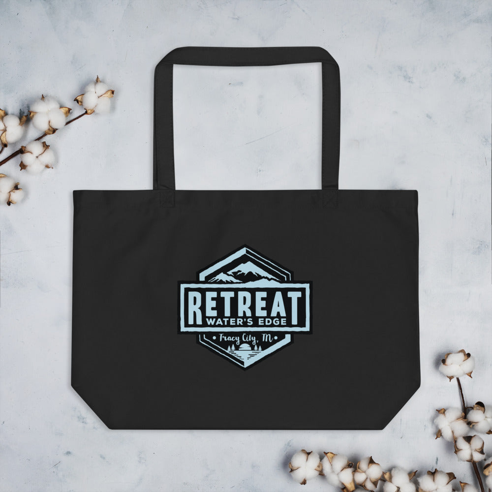 The Retreat at Water's Edge Large organic tote bag - The Retreat by Oakstone