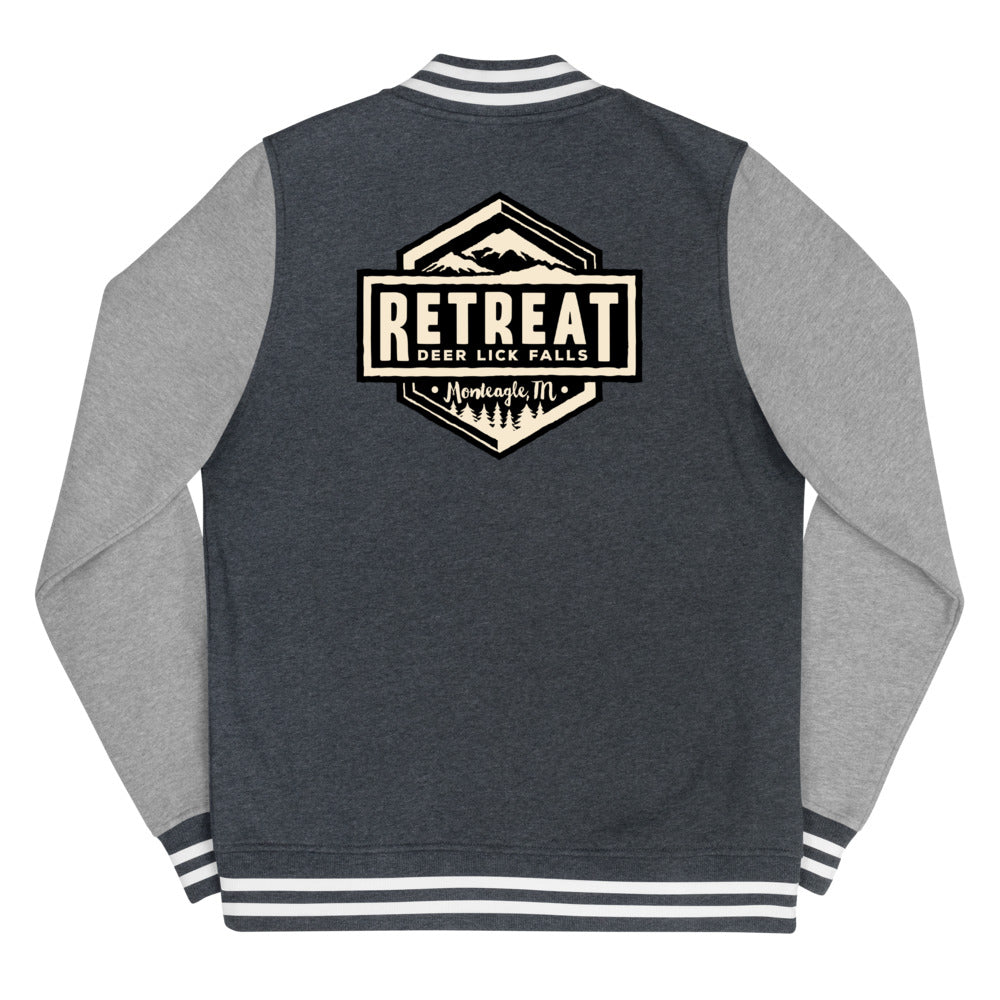 The Retreat at Deer Lick Falls Women's Letterman Jacket - The Retreat by Oakstone