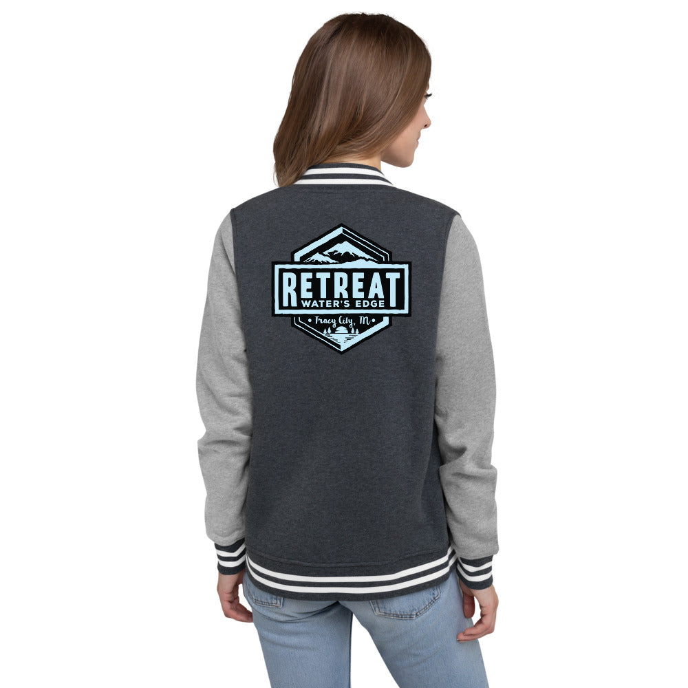 The Retreat at Water's Edge Women's Letterman Jacket - The Retreat by Oakstone
