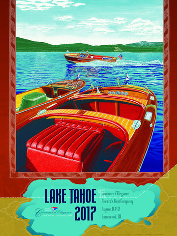 Lake Tahoe Councours d'Elegance 2017 Poster