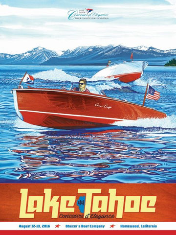 Lake Tahoe Concours d'Elegance August 2016 Poster