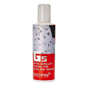 Gtechniq G5 Water Repellent Coating for Glass and Perspex 100ml - Maximum Repellency, 3 to 6 Months Durability, Beads Water, Removes Contaminants - Perfect for Car Windows, Marine Glass