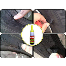 Load image into Gallery viewer, June# EELHOE Mighty Tire Repair Glue Car Tyre Puncture Sealant Bike Car Tire Repair Patch Craft Car Tire Repair Special Glue Adhesive Car Rubber Tire Seal Glue (20 ml)