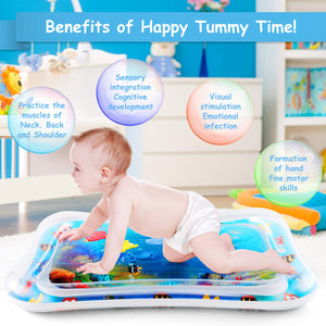 NASHRIO Baby Tummy Time Water Play Mat Toys for 3 6 9 Months, The Perfect Sensory Toys for Babies Early Development Activity Centers