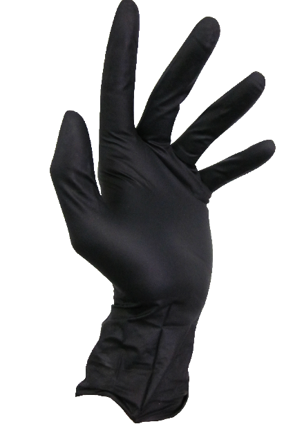 Black Storm Powder Free Black Nitrile Glove - Premium Examination Grade - Box of 100 Gloves